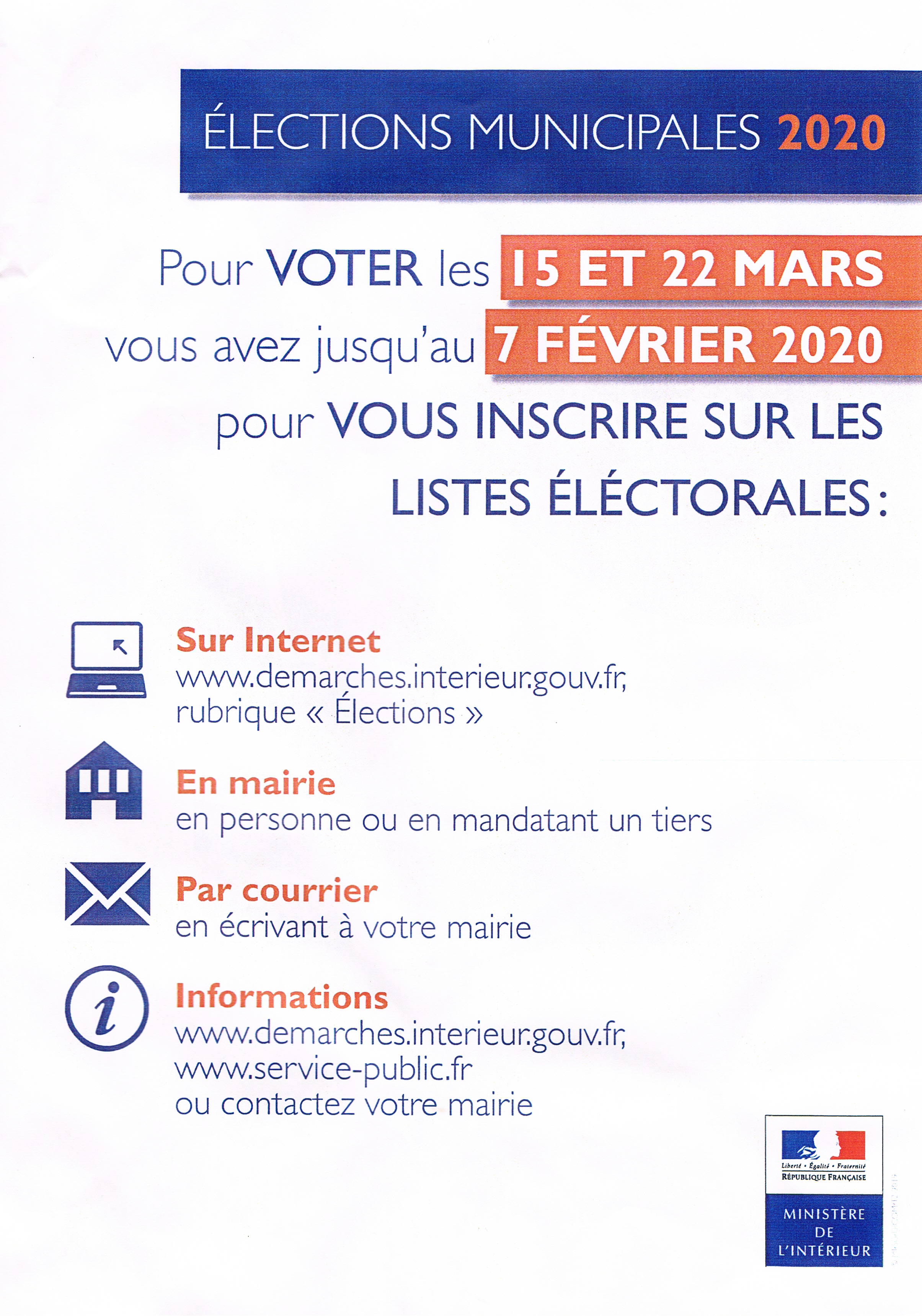 inscription listes électorales
